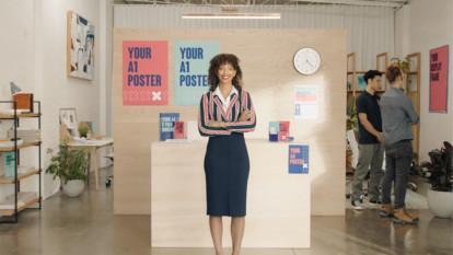 Officeworks: Print + Create poster